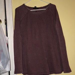 long, burgundy knit.